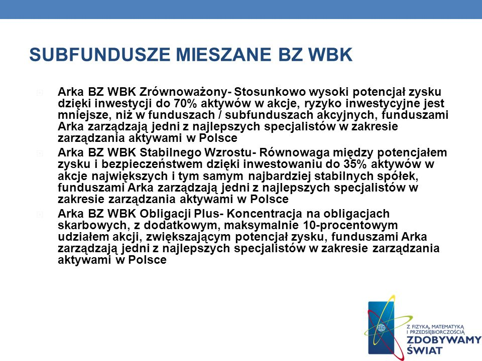 SUBFUNDUSZE MIESZANE BZ WBK