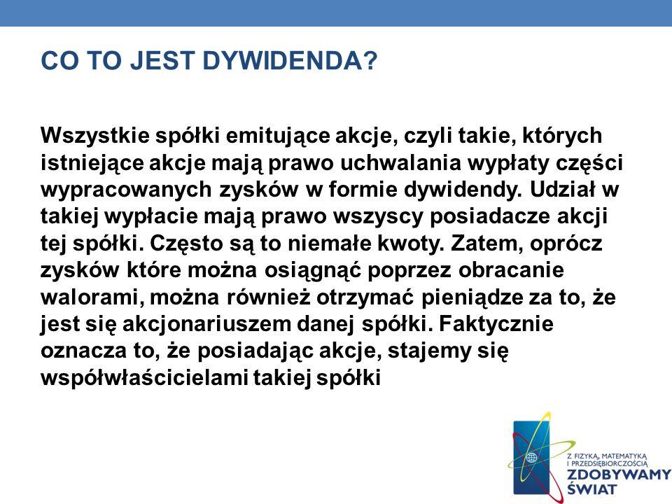CO TO JEST DYWIDENDA