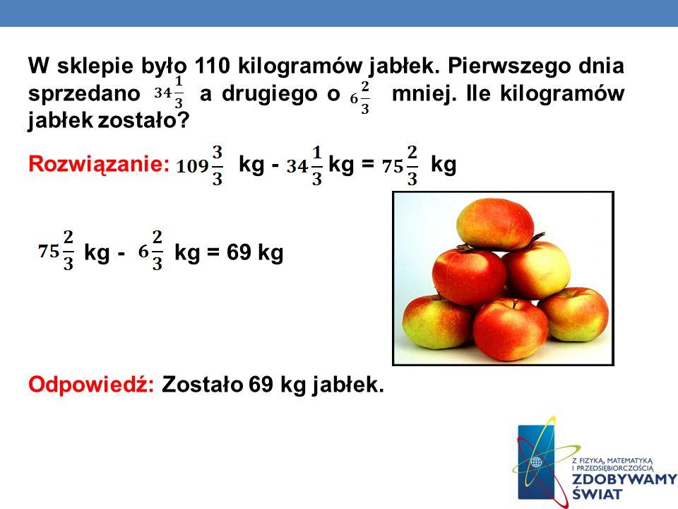W sklepie było 110 kilogramów jabłek