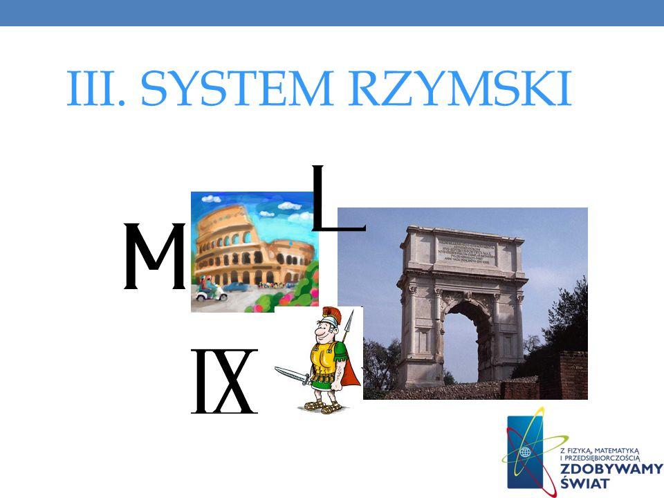 III. SYSTEM RZYMSKI