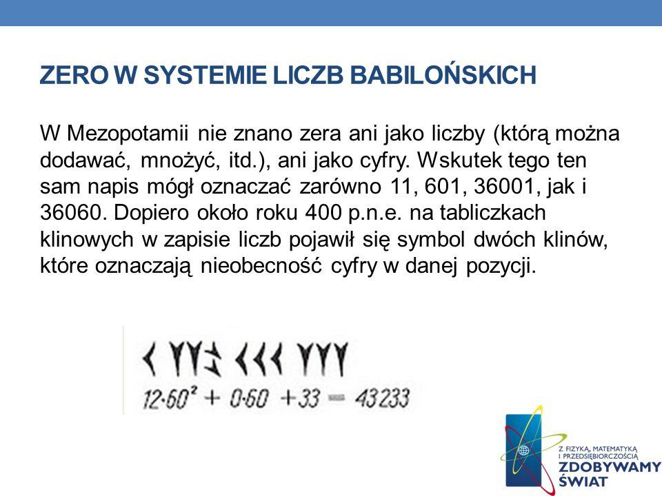 Zero w systemie liczb babilońskich