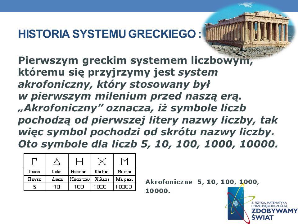 Historia systemu greckiego :
