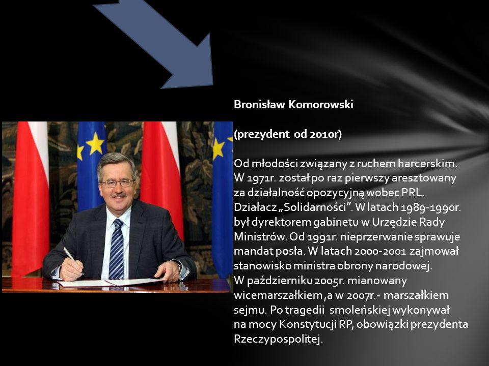 Bronisław Komorowski (prezydent od 2010r)