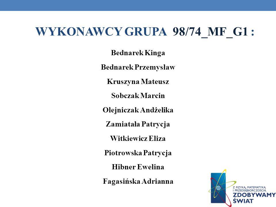 WYKONAWCY GRUPA 98/74_MF_G1 :