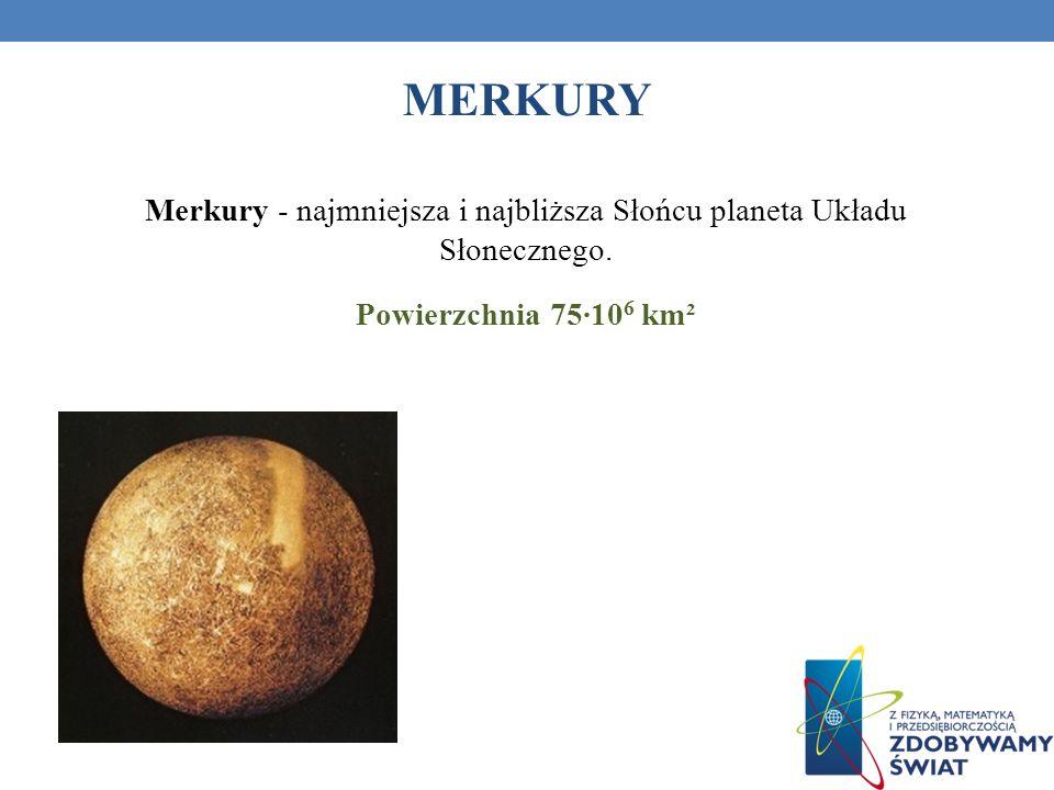 Merkury - najmniejsza i najbliższa Słońcu planeta Układu Słonecznego.