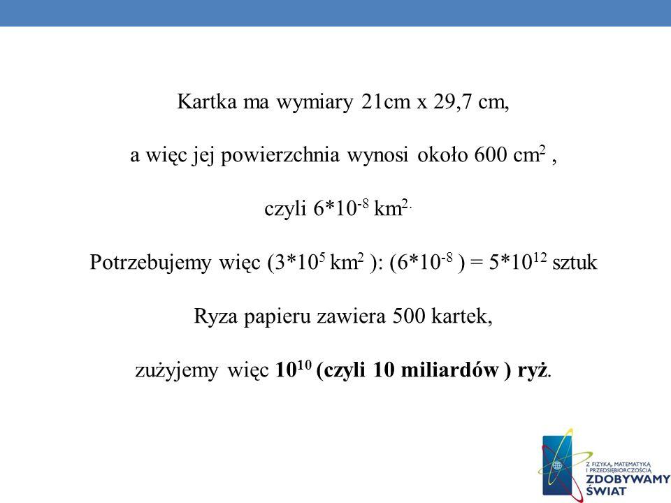 Kartka ma wymiary 21cm x 29,7 cm,