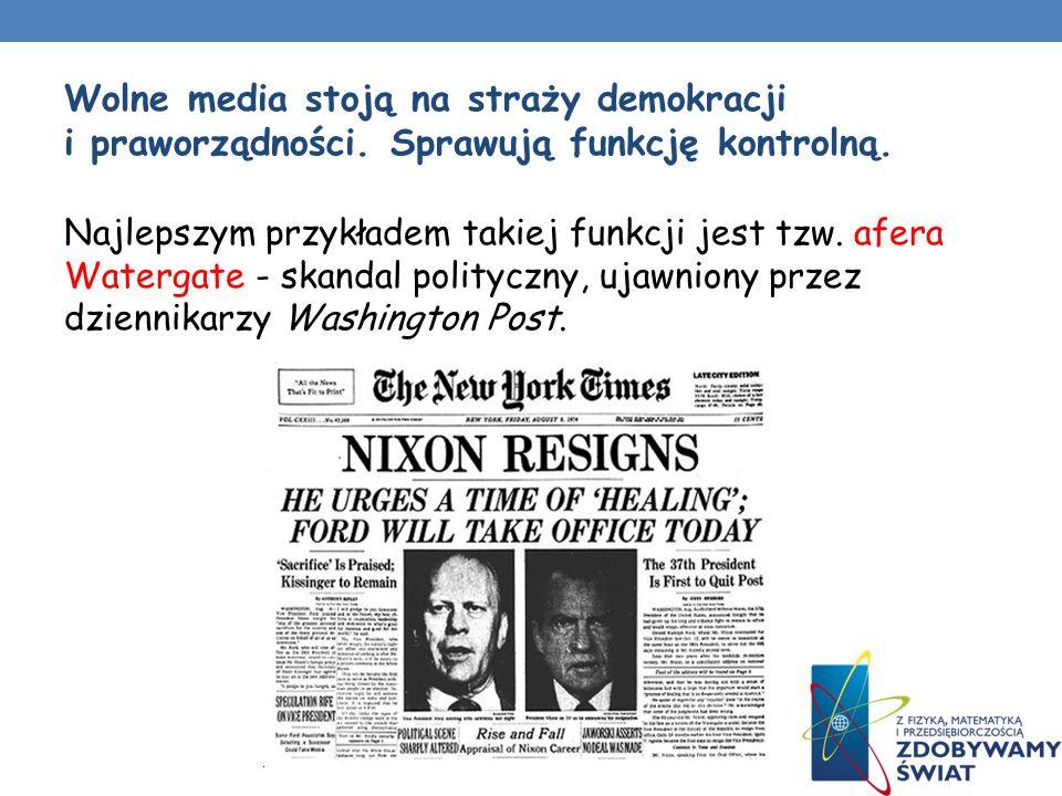 Wolne media stoją na straży demokracji i praworządności