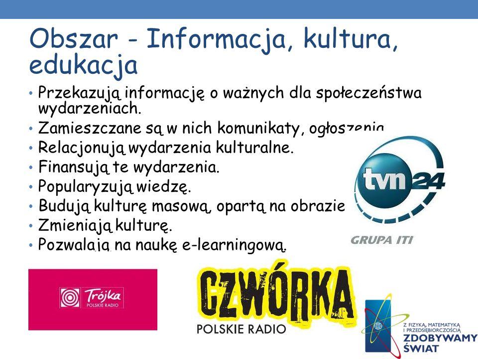 Obszar - Informacja, kultura, edukacja