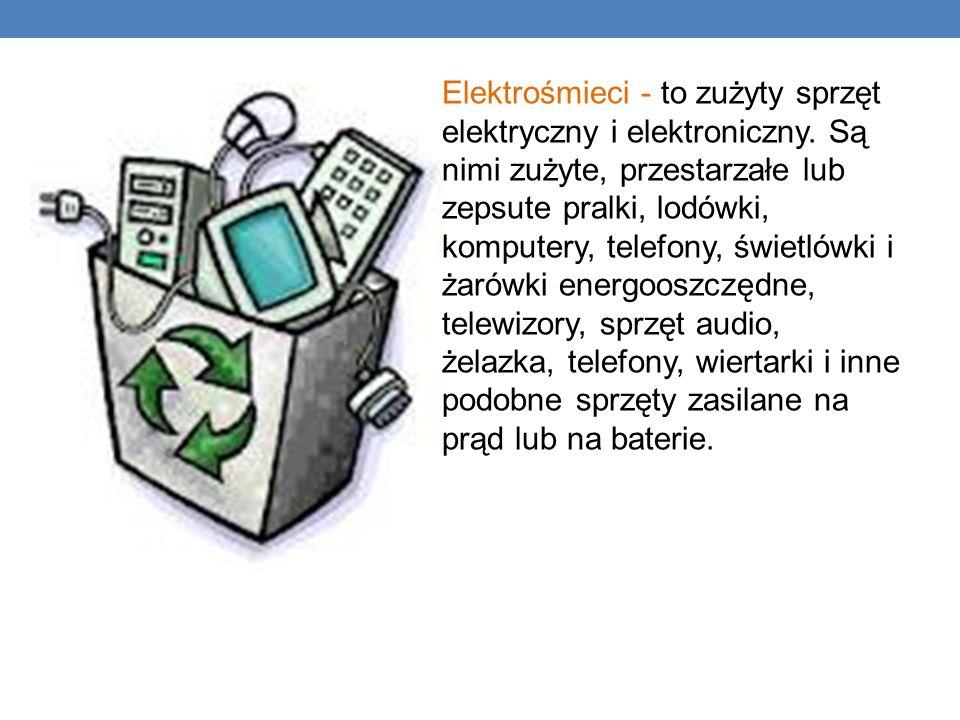 Elektrośmieci - to zużyty sprzęt. elektryczny i elektroniczny. Są