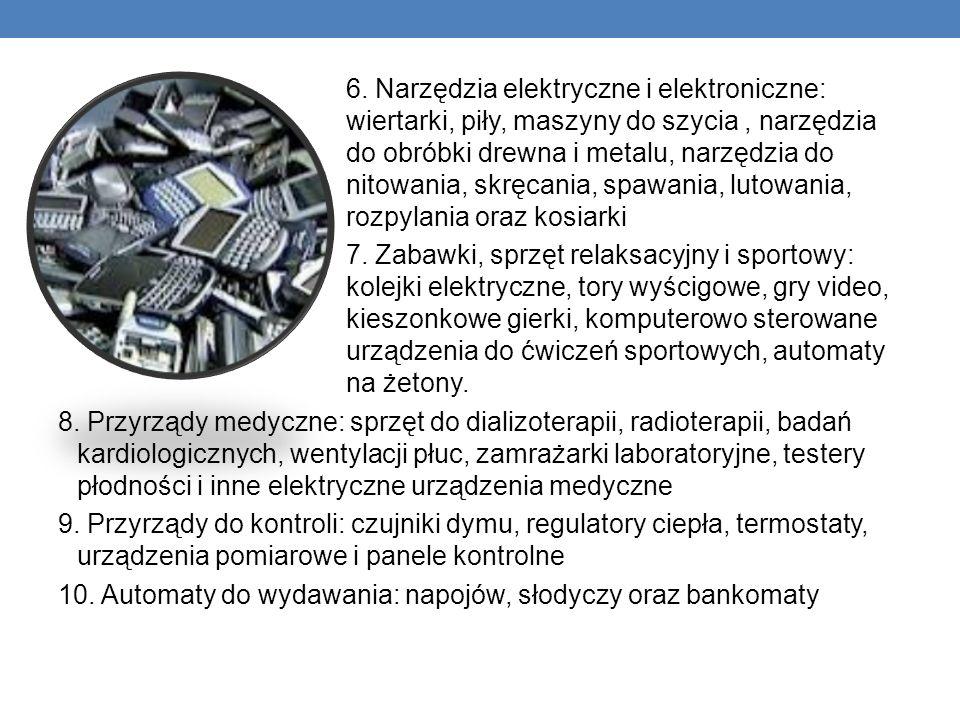 6. Narzędzia elektryczne i elektroniczne: