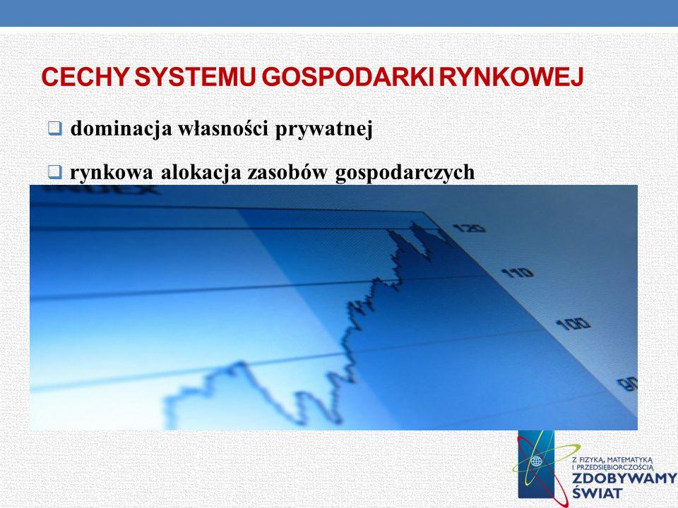 cechy systemu gospodarki rynkowej