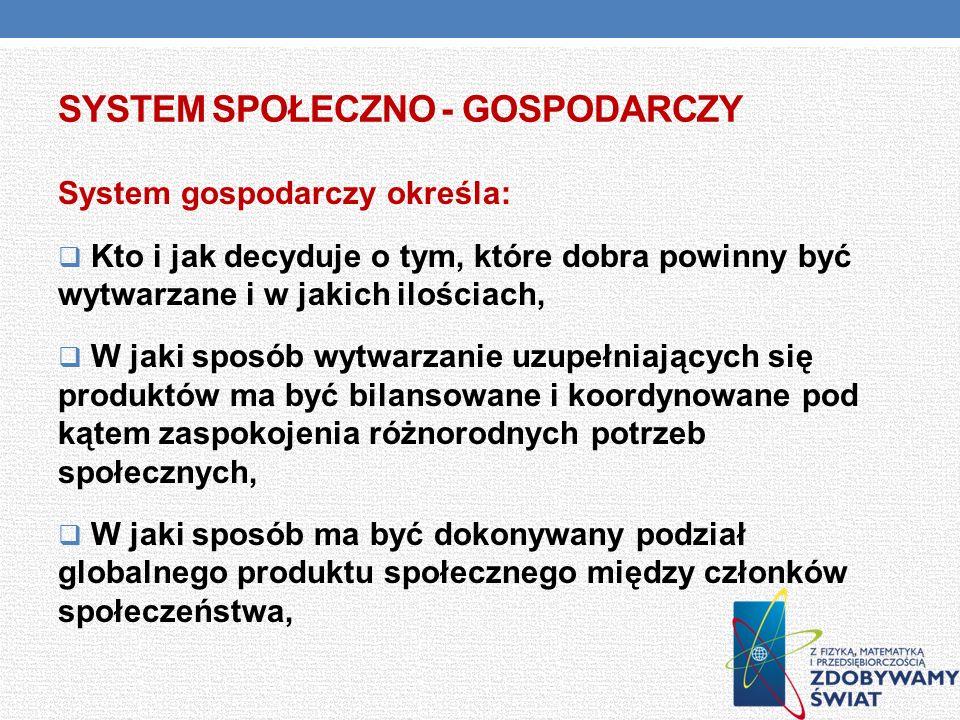 System społeczno - gospodarczy