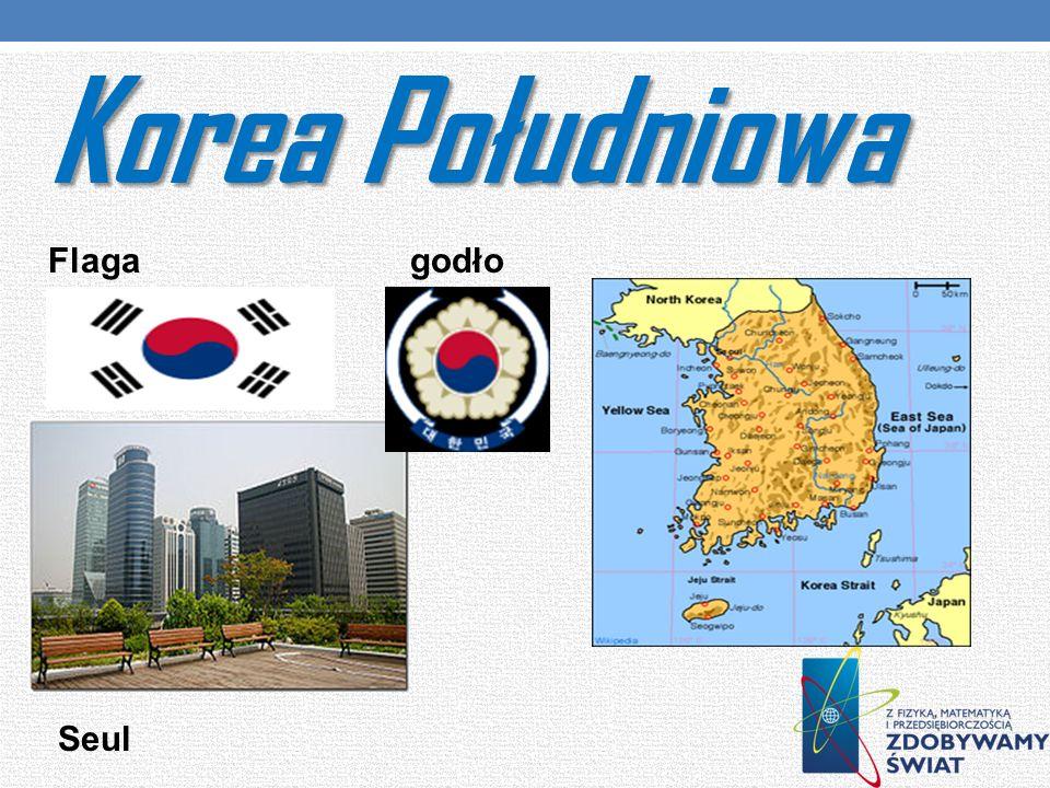 Korea Południowa Flaga godło Seul