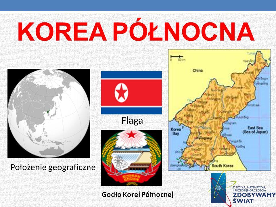 Korea Północna Flaga Położenie geograficzne Godło Korei Północnej