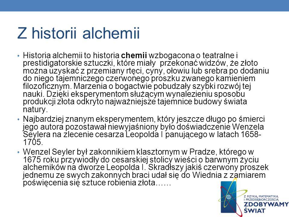 Z historii alchemii
