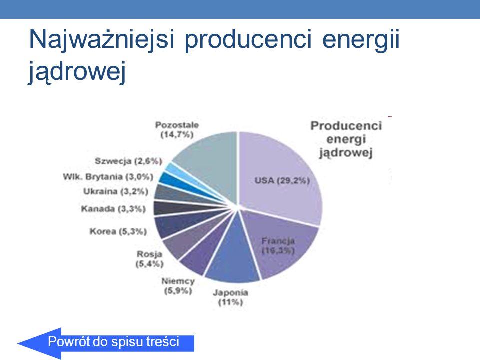 Najważniejsi producenci energii jądrowej