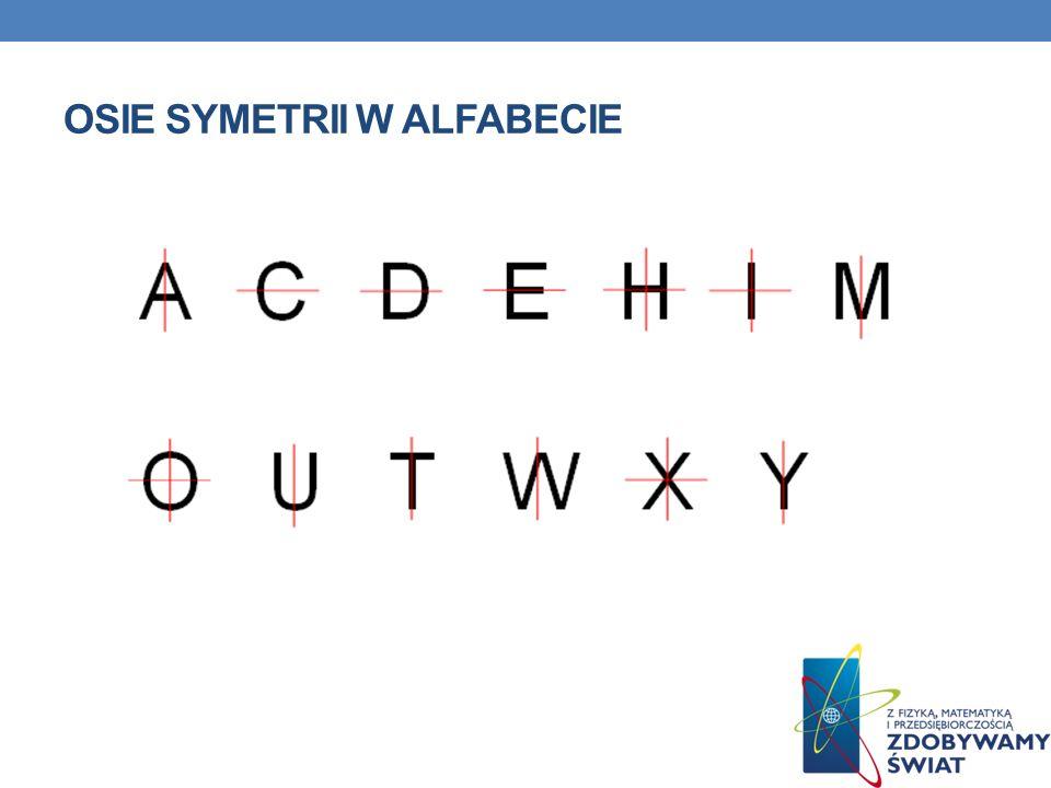 Osie symetrii w alfabecie