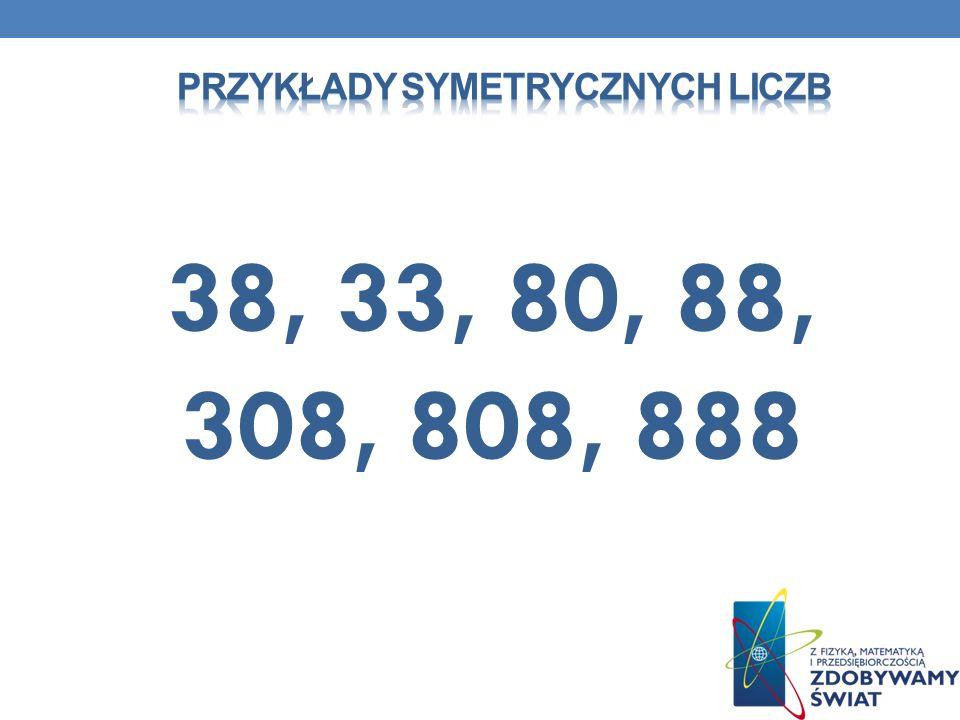 Przykłady SYMETRYCZNYCH liczb