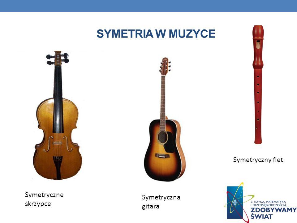 SYMETRIA W MUZYCE Symetryczny flet Symetryczne skrzypce