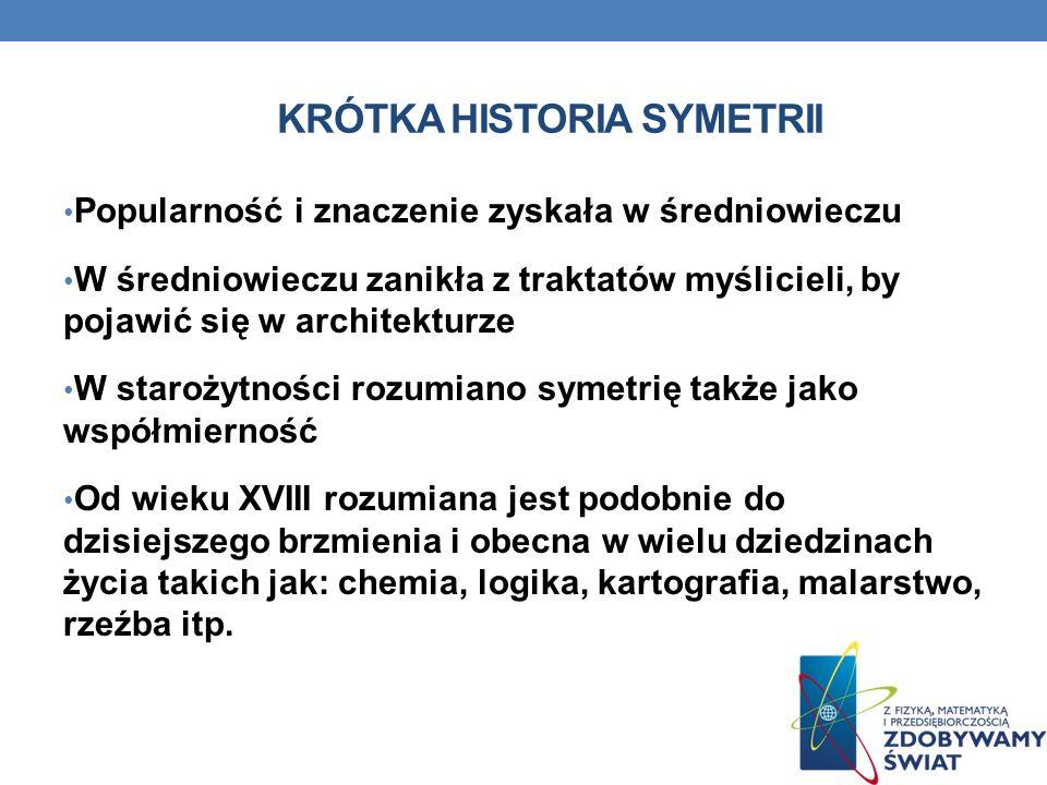 KRÓTKA HISTORIA SYMETRII