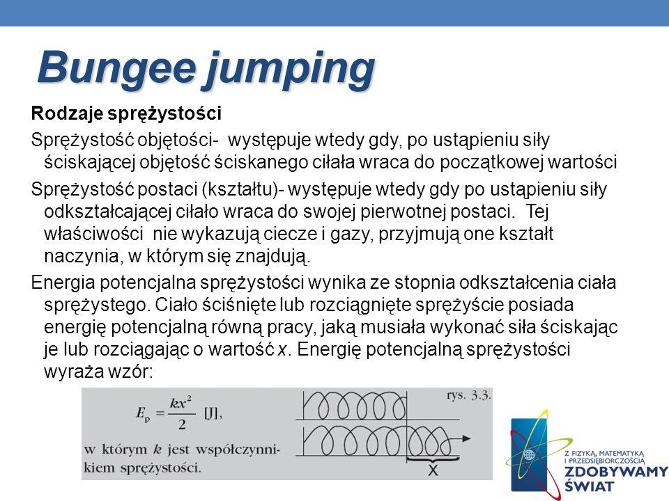 Bungee jumping Rodzaje sprężystości