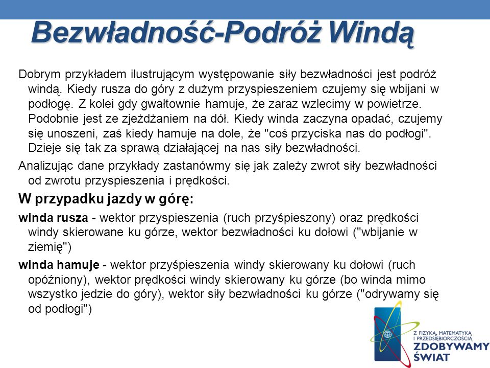 Bezwładność-Podróż Windą