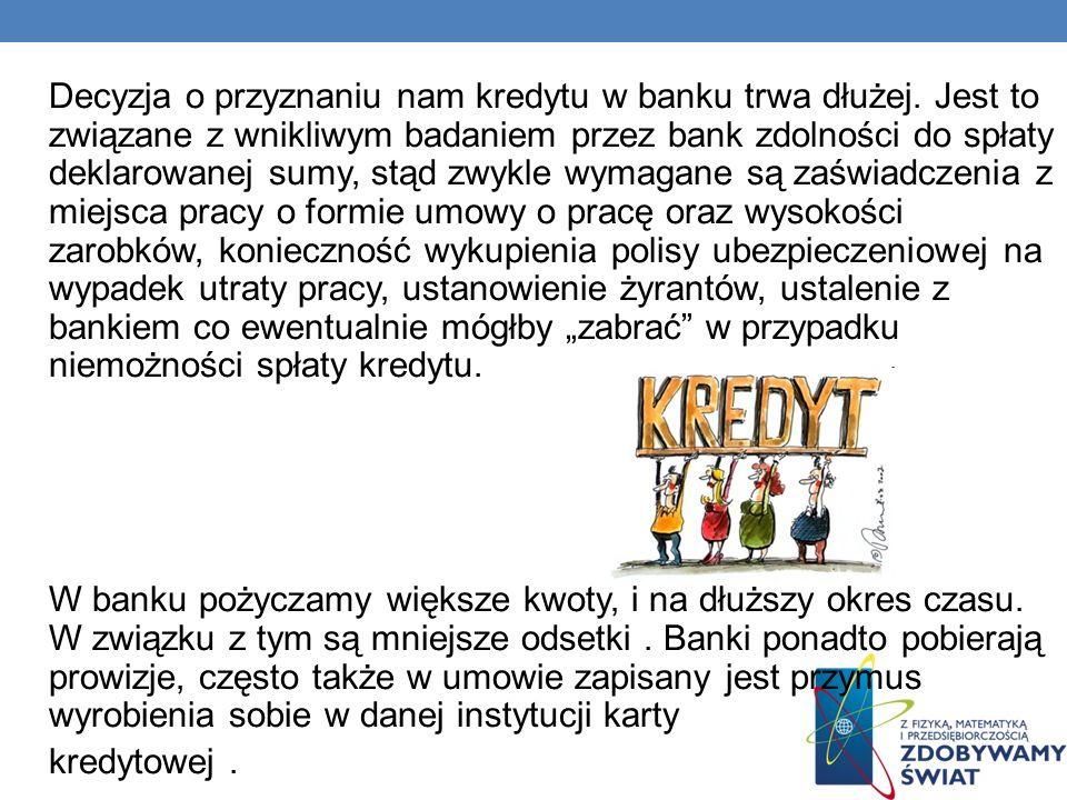Decyzja o przyznaniu nam kredytu w banku trwa dłużej