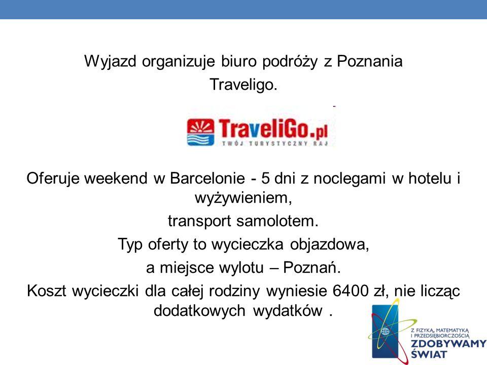 Wyjazd organizuje biuro podróży z Poznania Traveligo.