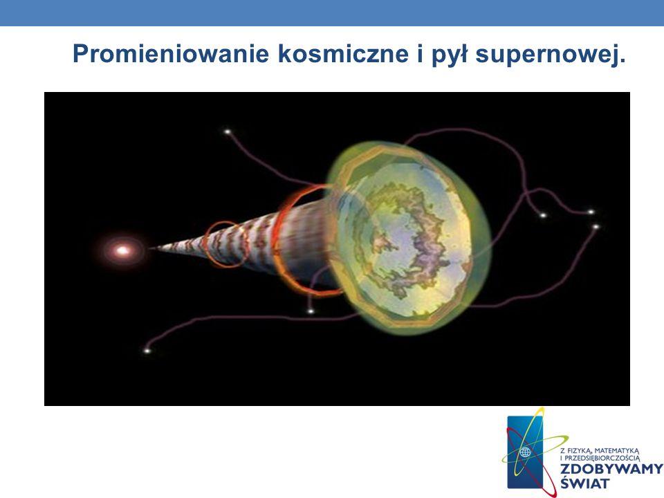 Promieniowanie kosmiczne i pył supernowej.