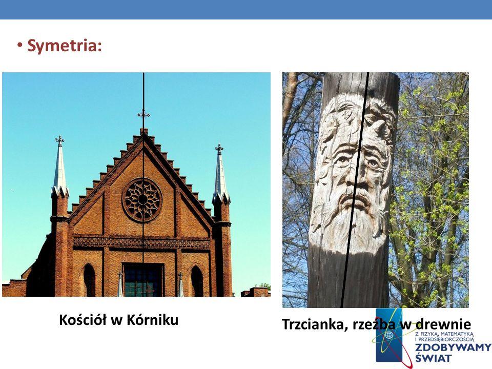 Symetria: Kościół w Kórniku Trzcianka, rzeźba w drewnie
