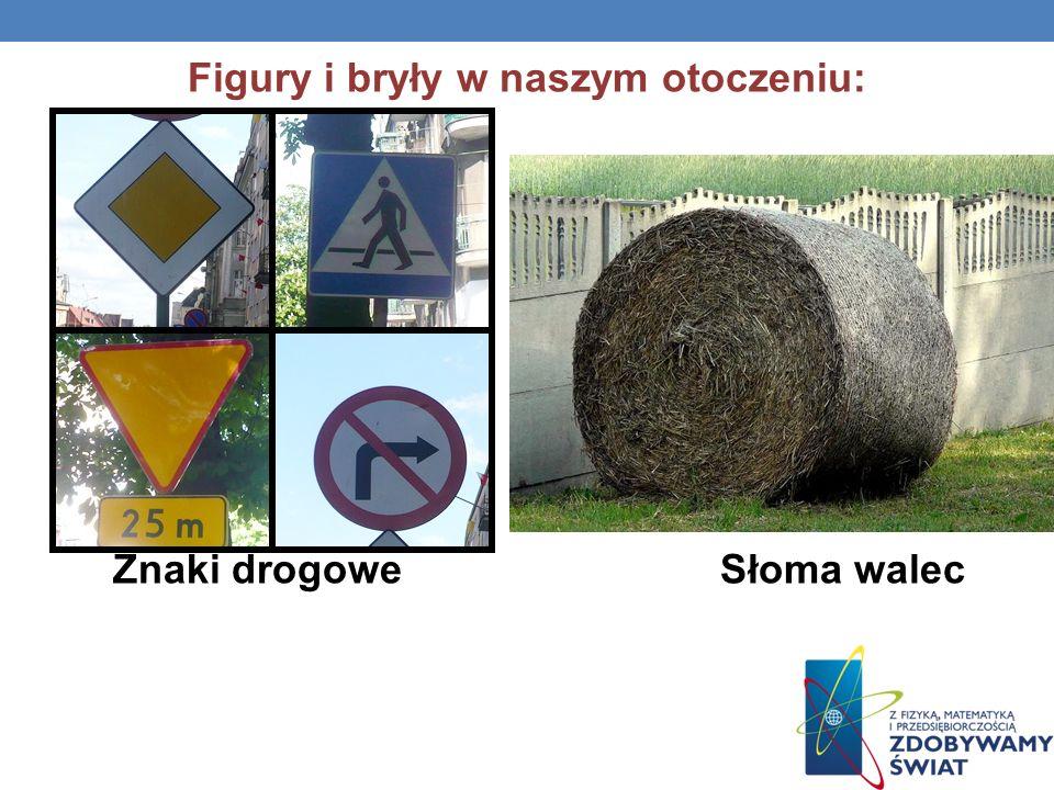 Figury i bryły w naszym otoczeniu: Znaki drogowe Słoma walec