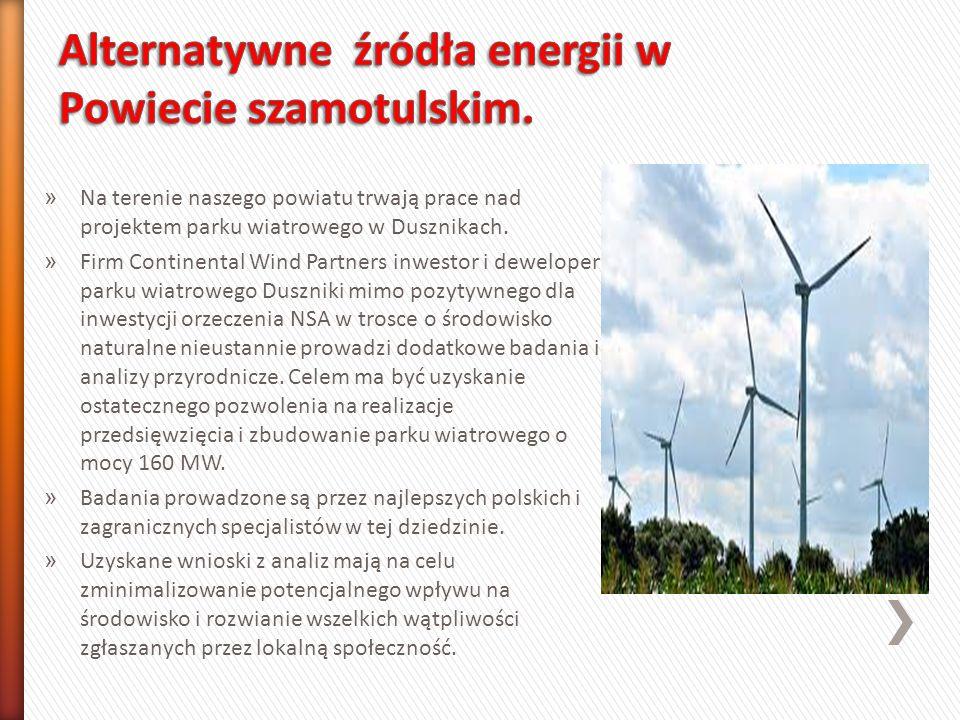 Alternatywne źródła energii w Powiecie szamotulskim.