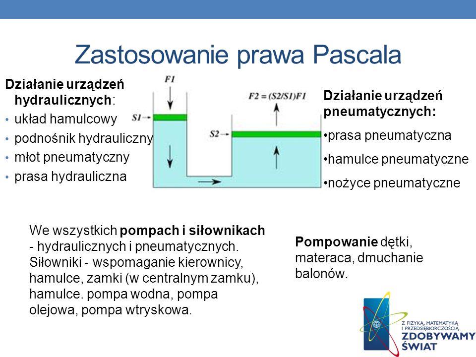 Zastosowanie prawa Pascala