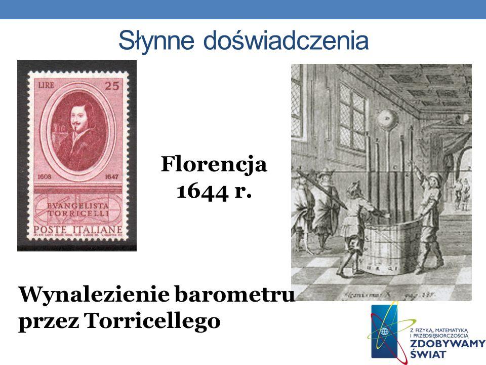 Słynne doświadczenia Florencja1644 r.