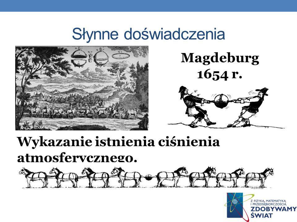 Słynne doświadczenia Magdeburg 1654 r.
