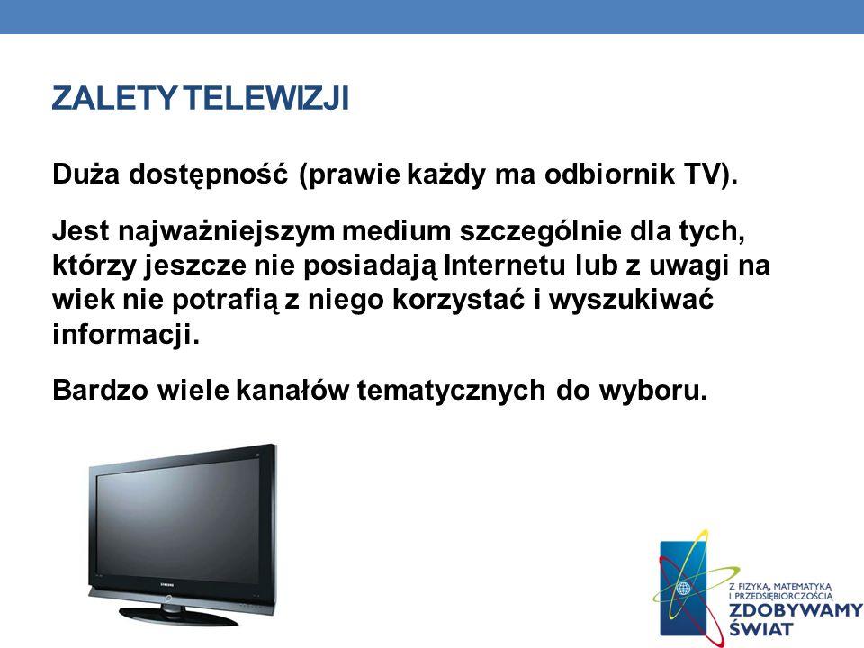 Zalety telewizji