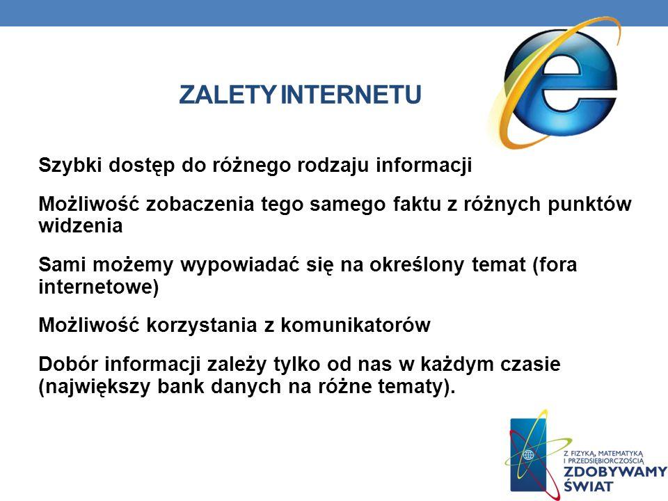 Zalety Internetu