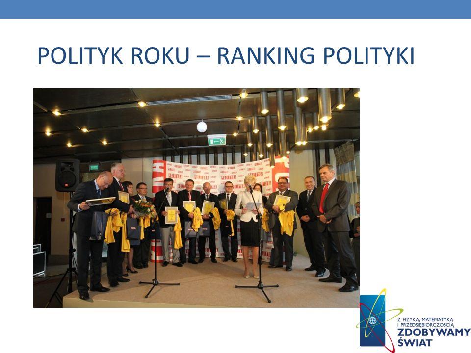 POLITYK ROKU – RANKING POLITYKI