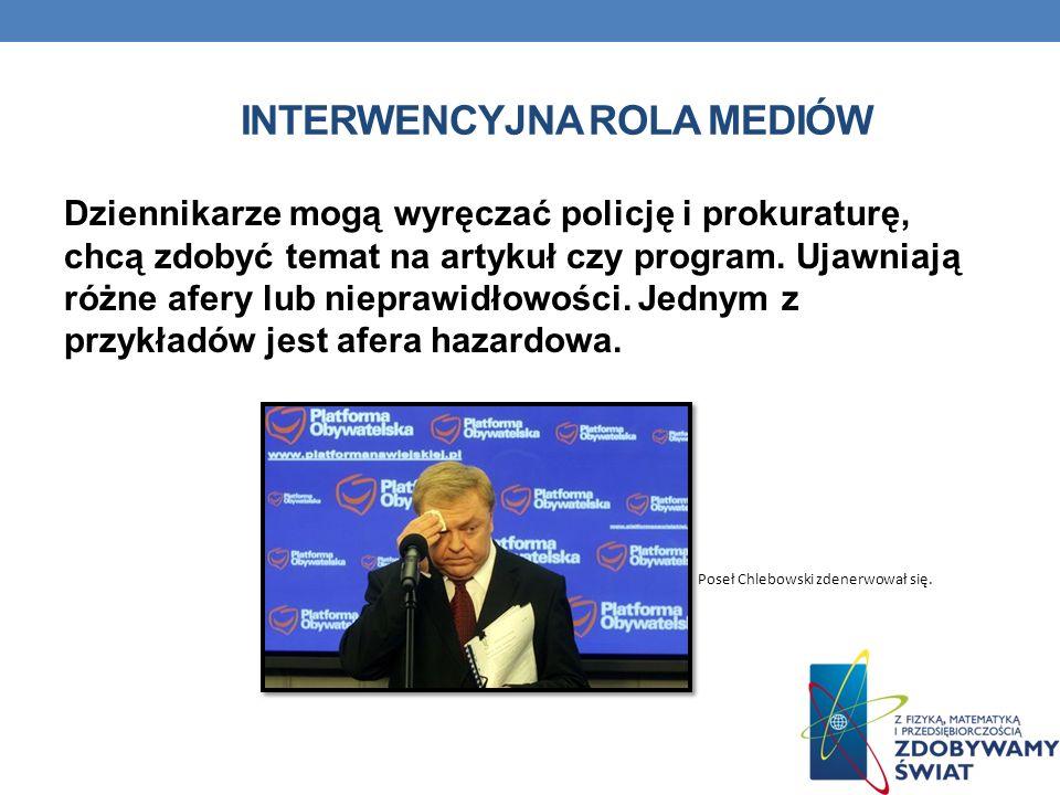 Interwencyjna rola mediów