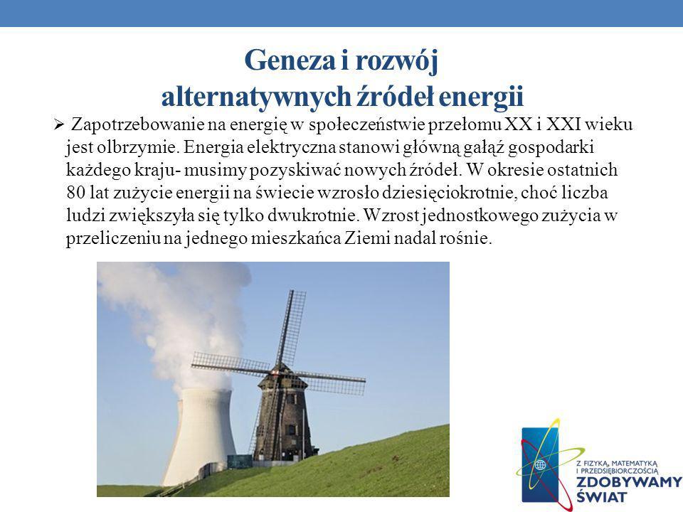 Geneza i rozwój alternatywnych źródeł energii