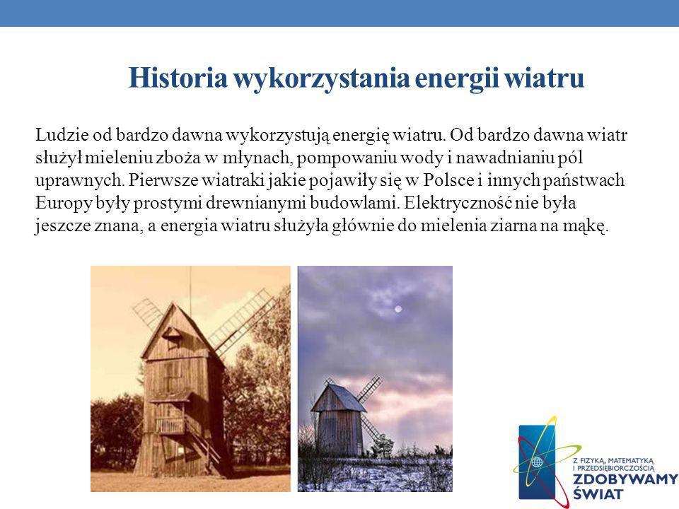 Historia wykorzystania energii wiatru