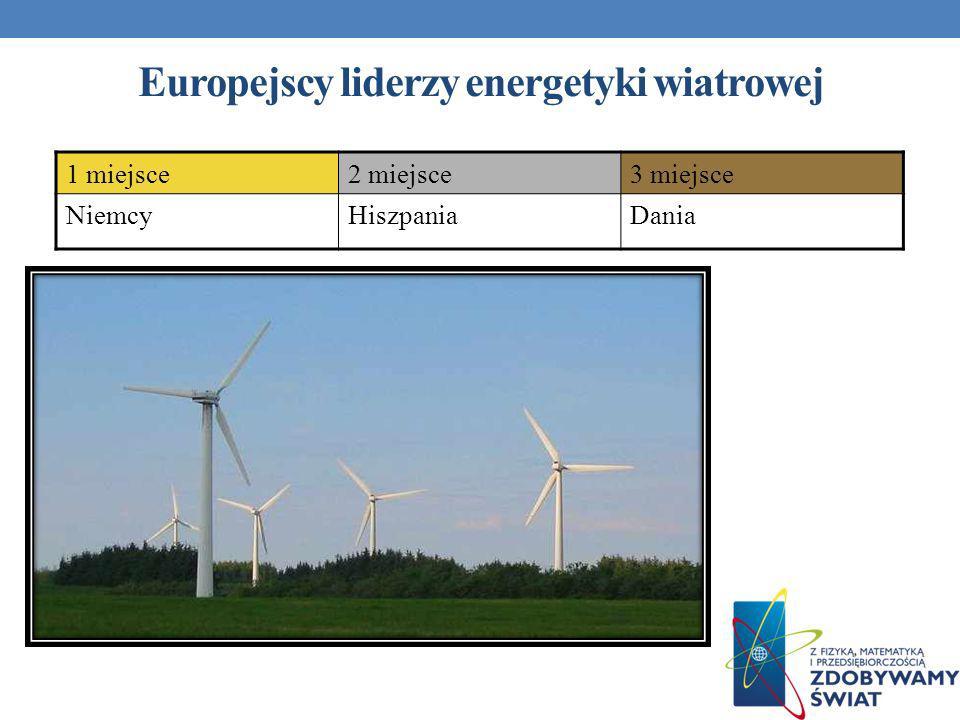 Europejscy liderzy energetyki wiatrowej