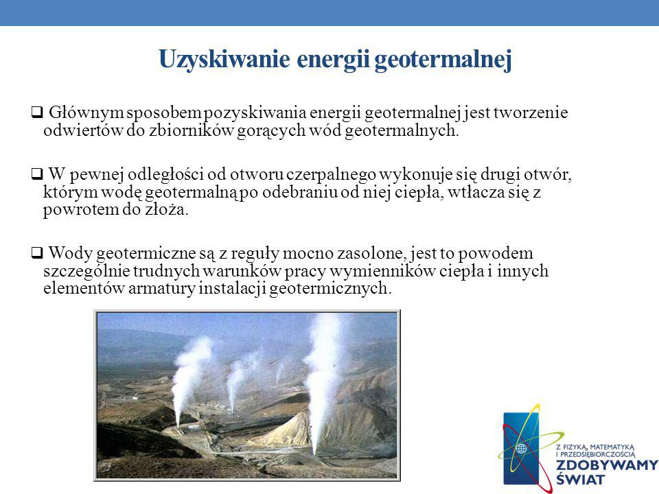 Uzyskiwanie energii geotermalnej