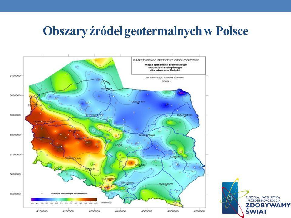 Obszary źródeł geotermalnych w Polsce