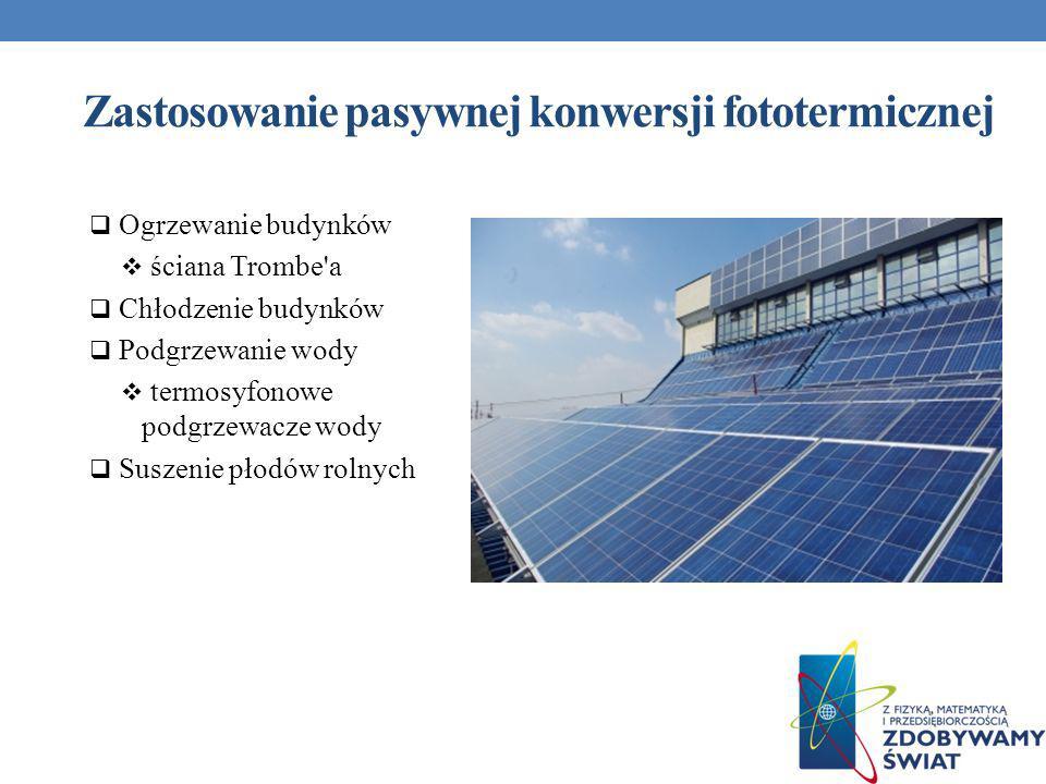 Zastosowanie pasywnej konwersji fototermicznej