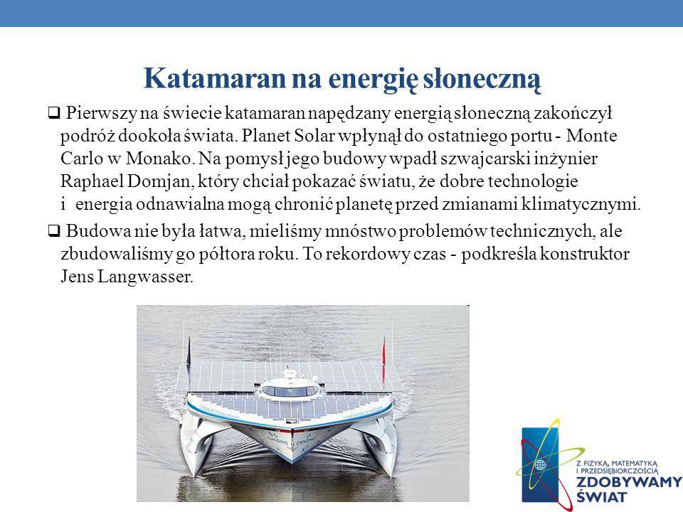 Katamaran na energię słoneczną