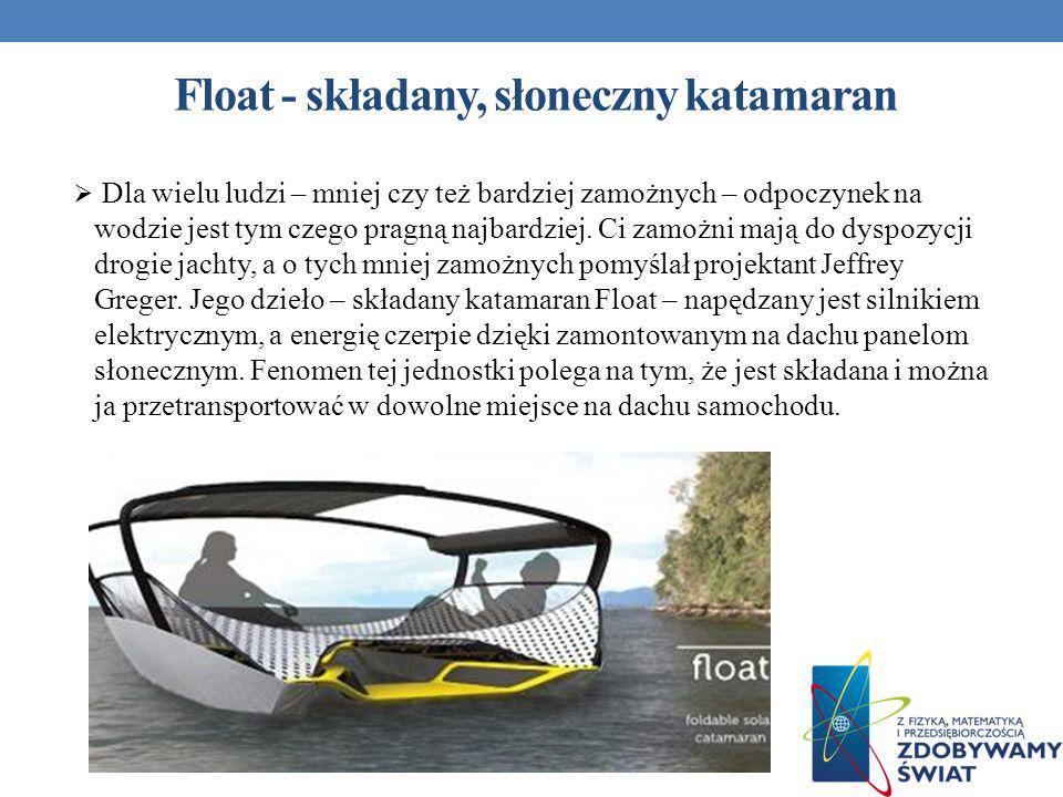 Float - składany, słoneczny katamaran