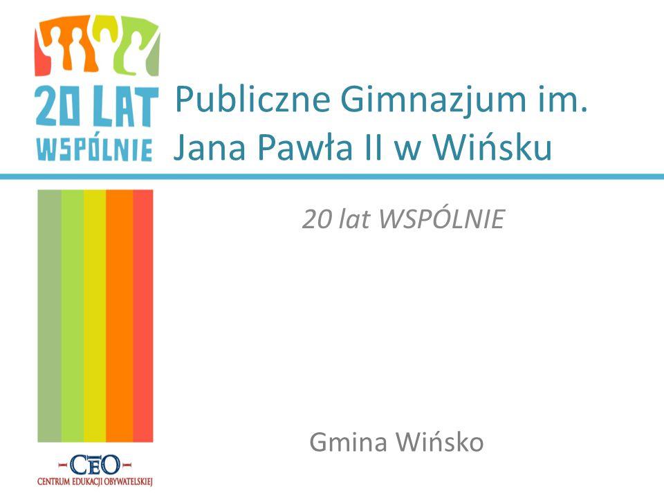 Publiczne Gimnazjum im. Jana Pawła II w Wińsku