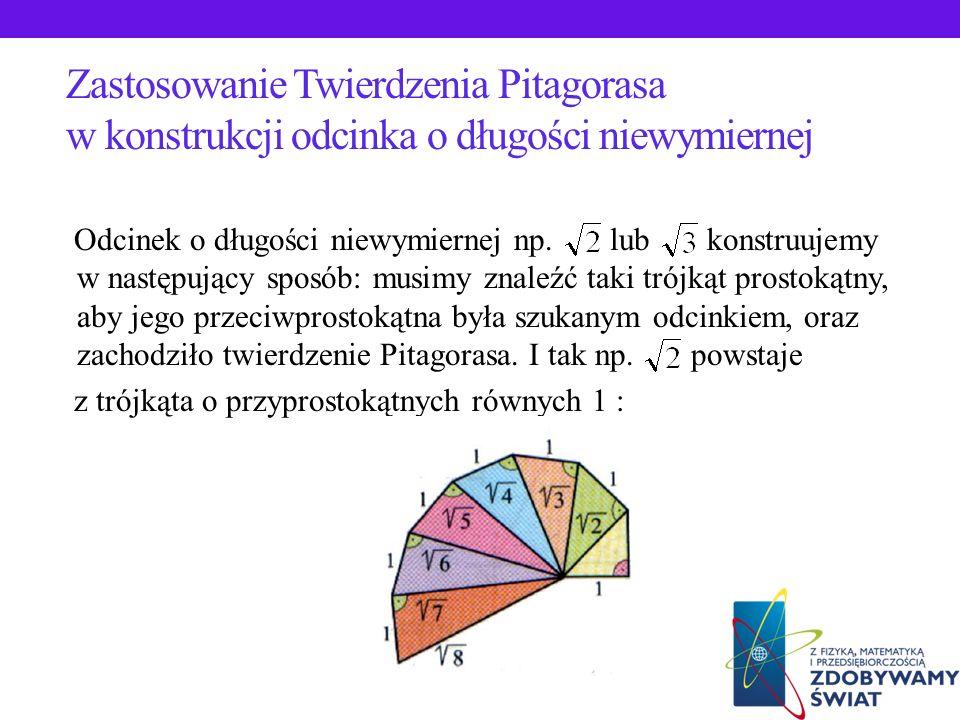 Zastosowanie Twierdzenia Pitagorasa w konstrukcji odcinka o długości niewymiernej