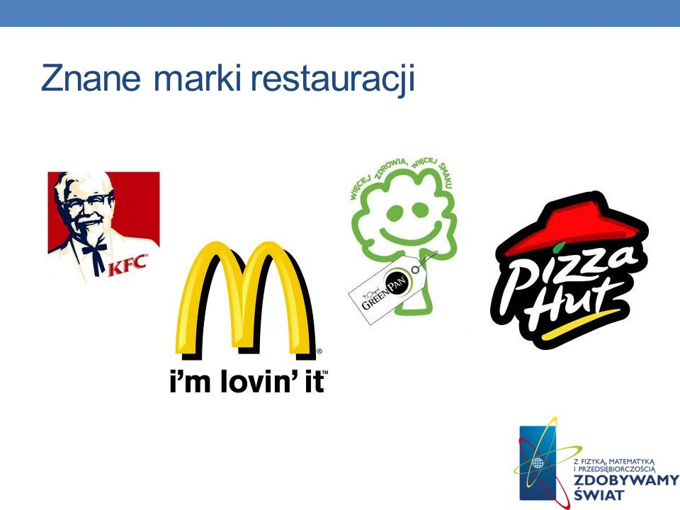 Znane marki restauracji